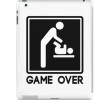 Game Over New Baby for Parent Dad iPad Case/Skin