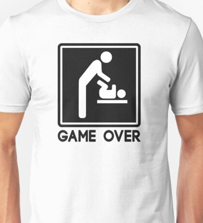Game Over New Baby for Parent Dad Unisex T-Shirt