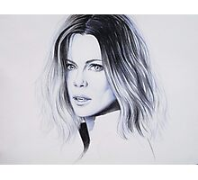 Portrait Drawing : Selene (Underworld) Photographic Print