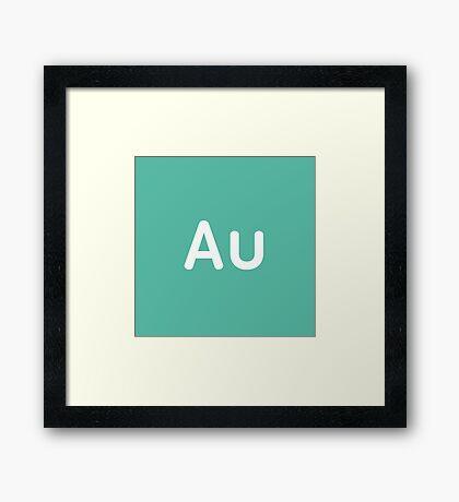 Adobe Audition CC Square Framed Print
