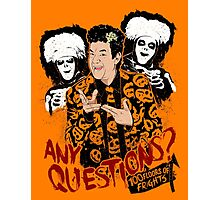 David S Pumpkins, Any Questions? Photographic Print