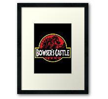 Bowser's Jurassic Castle Framed Print