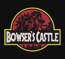 Bowser's Jurassic Castle Kids Clothes