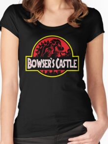 Bowser's Jurassic Castle Women's Fitted Scoop T-Shirt