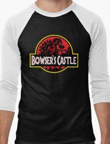 Bowser's Jurassic Castle Men's Baseball ¾ T-Shirt