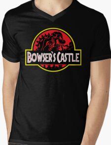 Bowser's Jurassic Castle Mens V-Neck T-Shirt