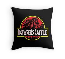 Bowser's Jurassic Castle Throw Pillow