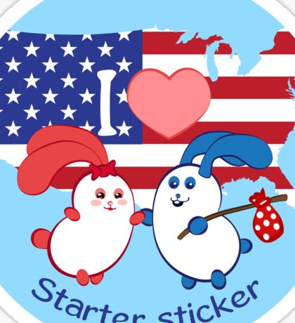 Ernest and Coraline | I love USA Sticker