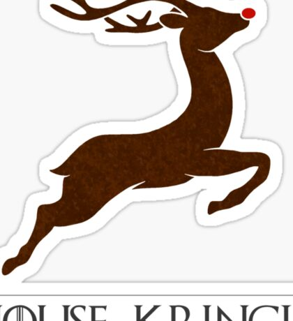 House Kringle Santa Red Nosed Reindeer Sigil Sticker