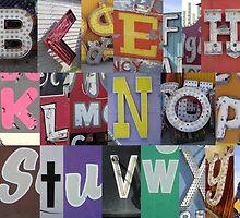 Las Vegas Sign Alphabet by Tiltedgiraffes