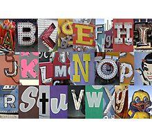 Las Vegas Sign Alphabet Photographic Print