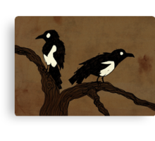 One For Sorrow, Two For Joy... Canvas Print