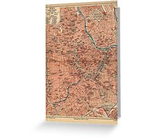 Vintage Map of Vienna Austria (1920) Greeting Card