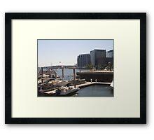 Look to the Docks of Boston Harbor Framed Print