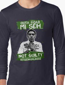 Out A Road #FREEWORLBOSS GREEN Long Sleeve T-Shirt