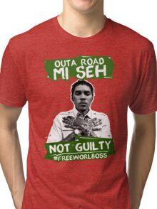 Out A Road #FREEWORLBOSS GREEN Tri-blend T-Shirt