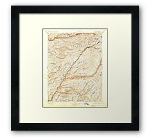USGS TOPO Map California CA Big Trees 299221 1901 125000 geo Framed Print