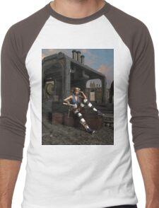 Steampunk Blaze  Men's Baseball ¾ T-Shirt