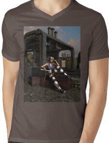 Steampunk Blaze  Mens V-Neck T-Shirt