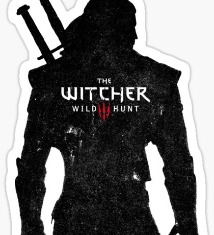 Geralt with Witcher Logo Sticker