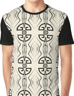 Seamless pattern, graphic ornament, modern stylish background, repeating texture with stylized geometric elements Graphic T-Shirt