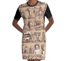 Mutation Montage Graphic T-Shirt Dress