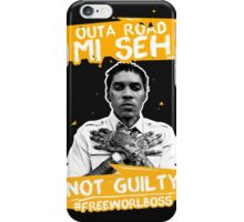 Out A Road #FREEWORLBOSS YELLOW iPhone Case/Skin