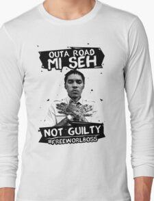Out A Road #FREEWORLBOSS BLACK Long Sleeve T-Shirt