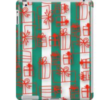 Modern Christmas pattern, red packages, green,white,vertical stripes, trendy,fun,x-mas,happy,merry christmas iPad Case/Skin