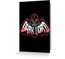 Dark Lord Greeting Card