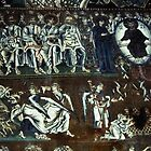 Left half of Judgement back wall, Christ in judgement, S Maria Assunta Torcello Venice Italy 19840730 0042 by Fred Mitchell