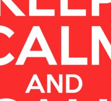 Keep Calm And Call 0118 999 881 999 119 725.. 3 Sticker