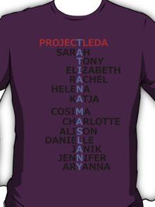 Orphan Black actress and character names (Season Two Spoilers) T-Shirt