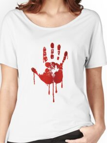 Blood hand Women's Relaxed Fit T-Shirt