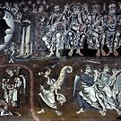 Right half of Judgement back wall, Christ in judgement, S Maria Assunta Torcello Venice Italy 19840730 0044  by Fred Mitchell