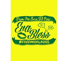 EVA BLESS #FREEWORLBOSS GREEN Photographic Print