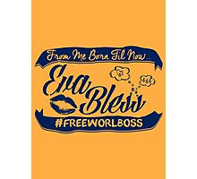 EVA BLESS #FREEWORLBOSS NAVY Photographic Print