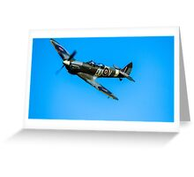 Airplane - Spitfire Greeting Card
