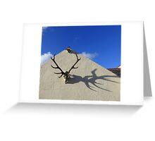 Antler Shadows Greeting Card