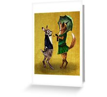 Fox and Hare Greeting Card