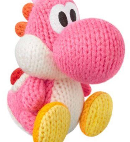 Pink Yarn Yoshi Sticker