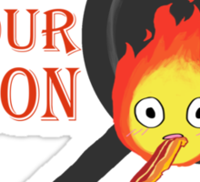 Bacon Burning Sticker