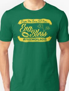 EVA BLESS #FREEWORLBOSS YELLOW Unisex T-Shirt