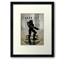 Heroes of Gaming - John 117 Framed Print