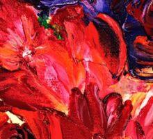 Flowers in bloom painting Sticker