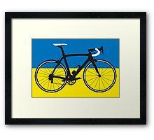 Bike Flag Ukraine (Big - Highlight) Framed Print