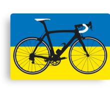 Bike Flag Ukraine (Big - Highlight) Canvas Print