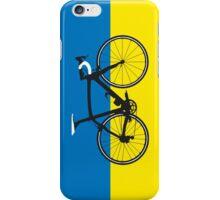 Bike Flag Ukraine (Big - Highlight) iPhone Case/Skin