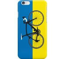 Bike Flag Ukraine (Big - Highlight) iPhone Case/Skin