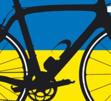 Bike Flag Ukraine (Big - Highlight) Sticker